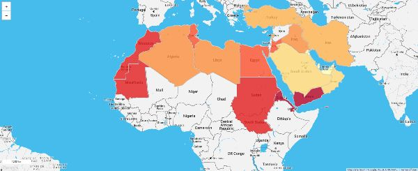 Mapping The Poorest Countries In Middle East And North Africa