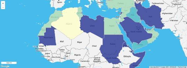 Create maps free in Middle east and north africa, create map from ...